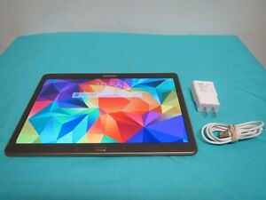 """10"""" Samsung Galaxy Tab S 10.5"""" 16GB Android Tablet AMOLED Finger"""