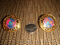 Round Colorful Pierced Earrings #1