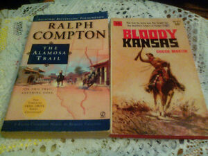 Lot of 9 Westerns Paperback Books