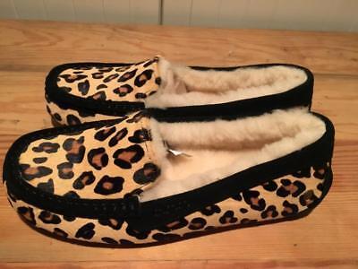UGG Ansley Lammfell Schuhe Leopard Fell Leder Calf Hair NEU 41 Hausschuhe USA 10 (Ansley Ugg Hausschuhe)