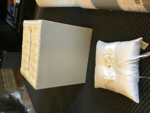 Wedding gift card box and ring pillow