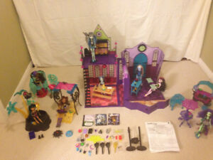 MONSTER HIGH COLLECTION(THREE SETS) 6 DOLLS & ACCESSORIES