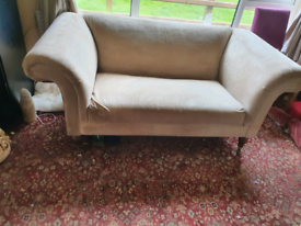 2 small Chesterfield style sofas