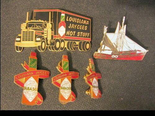 Jaycees Louisiana Tabasco Truck & Bottles with Sailing Schooner Ship