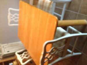Light wood table - good condition.  Does not come with chairs.