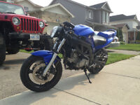 naked sv650 yosh exhaust and power commander