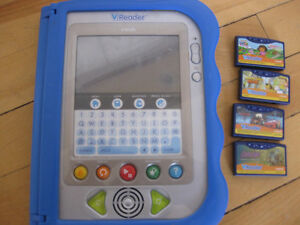 Vtech vreader with 4 games Cornwall Ontario image 1