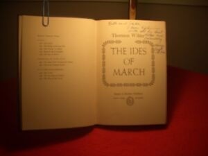 """1st Edition - """" The Ides of March """" by Thornton Wilder"""