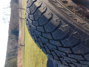 15 inch Goodyear studded winter tires