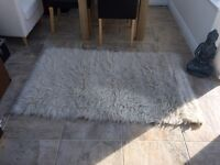 Next Flokati Cream/natural 100% wool rug-90 x 150