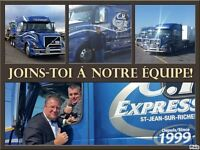 Chauffeurs(euses) longue distance CAN/USA, flatbed stepdeck