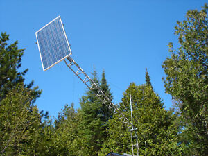 Mid Tilt-up towers for Solar or Wind