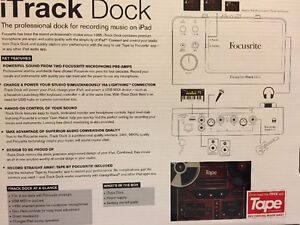 Slightly used Focusrite iTrack Dock for iPads