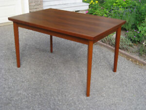 Two Vintage  MCM Retro Teak Extending Dining Tables, Chairs