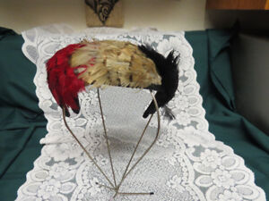 Vintage Multi-Colored Feather Hat Beautiful Bright Colors