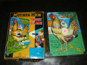 Vintage Mother Hen Target Game Tin Sign