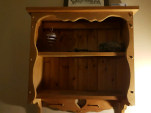 Wood wall mounting cabinet 26 x 30