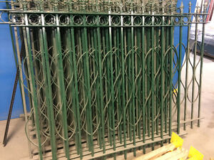 Solid wrought iron fencing 3/4x3/4 Pickets