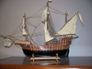 SHIP MODEL  (WOODEN)  WITH STAND