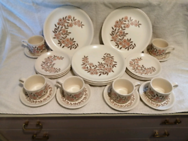 Biltons vintage dinner set tea cups mug plates saucers pottery floral