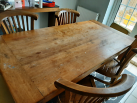 Dining Table and 4 solid wood chairs