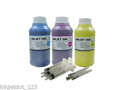 3x250ml Pigment Color Ink For Epson Stylus Nx125 Nx127 Nx...