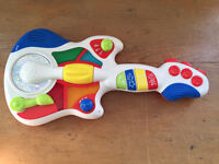 Plastic baby toddler guitar toy