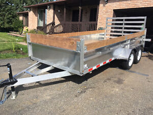 Custom aluminum trailers for the price of steel !