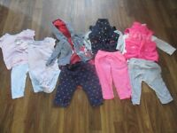 baby girl clothes 3-6 months/vetements fille 3-6 mois Lot