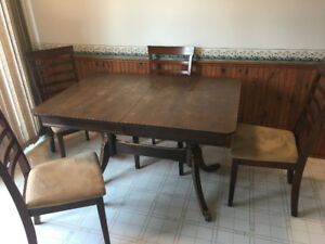 ANTIQUE DINING ROOM TABLE -  OVER 100 YEARS OLD