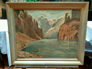 Original   Mountains   Canyon   Framed Painting   Picture London Ontario image 1