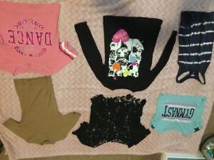 Girls clothing items