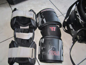 Lacrosse rib and elbow pads
