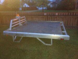 Aluminum sled deck
