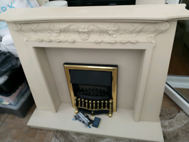 Electric Fire, and Marble/MDF surround