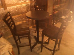 Table bistro commerciale (3 chaises)