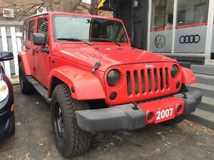 2007 Jeep Wrangler Unlimited- CREDIT APPROUVE 1er-2e & 3e CHANCE