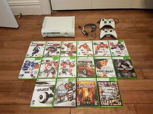 Xbox 360 avec 16 jeux et 2 manettes