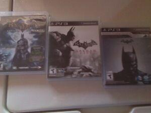 Lot de 3 jeux Batman1-2-3 pour playstation 3  25$ pour les 3