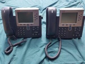 Cisco CP-7942G Unified VoIP Office Phone - Lot of 2