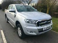 2016 66 FORD RANGER XLT 4X4 2.2TDCI 160BHP SILVER 1 OWNER ANY UK DELIVERY