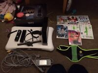 Nintendo wii black boxed with accessories.