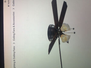 Carriage house iron ceiling fan