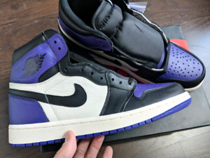 Nike air jordan 1 court purple size 9 9.5 10