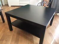 Black square Ikea coffee table