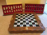 Chess Set & Board/Cabinet