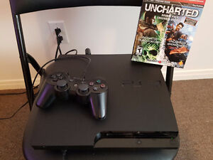 PS3 with uncharted bundle 1-2