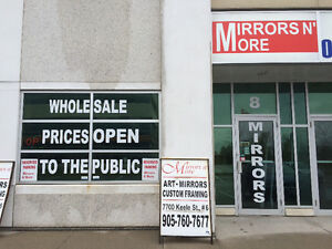 """Mirrors N'More Outlet @ 40 Snidercroft #8 opposite""""Improve""""."""