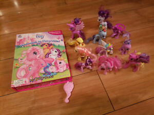 My little pony book and ponies