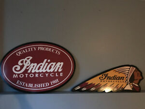 RARE INDIAN MOTORCYCLE SIGNS